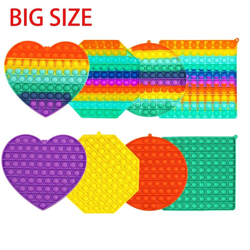 Fidget-Toys Autism Anti-Stress Squishy Big-Size Reliver Bubble-Sensory Adult Push It