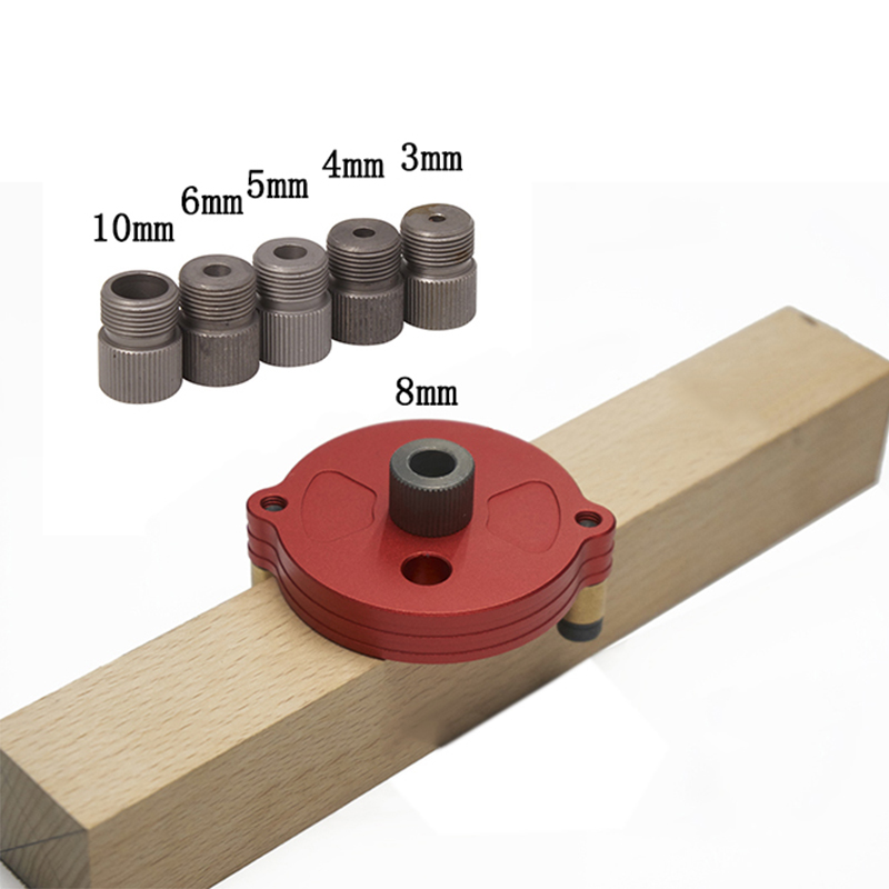 Vertical Hole Jig 3/4/5/6/8 / 10mm Wood Dowel Hole Drilling Guide Jig Drill Kit Joinery System Wood Drilling Locator