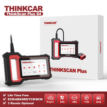 THINKCAR Thinkscan Plus S4 Lifetime Free Optional 3 Resets Car Diagnostic Tool ECM/TCM/ABS/SRS/BCM System OBD2 Auto Scanner