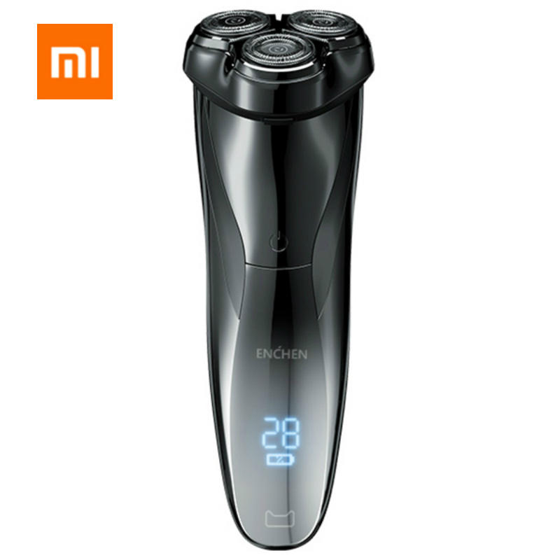 Xiaomi Enchen Electric Shaver Razor For Men Type C Rechargeable 3 Head Dry Wet Shaving Machine Beard Trimmer Washable Dual Blade