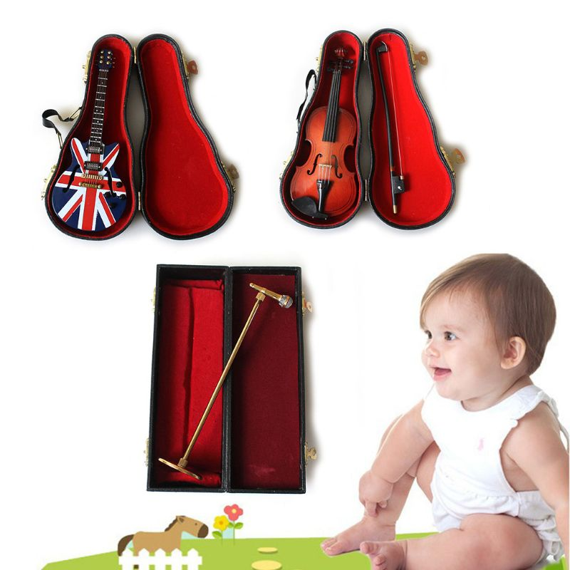 1Set Newborn Baby Photography Props Guitar Violin Microphone Musical Instruments K1KC