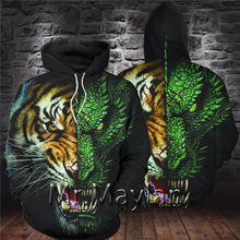 Tiger Dragon 3D Full Printed Jacket Men/women Casual Streetwear Hoodies Boys Hip Hop Hood Sweatshirts Mens Hipster Clothes 5XL(China)