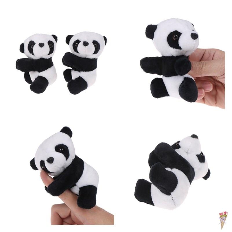 1Pcs Small Stuffed Animal Toy Curtain Clip Bookmark Notes Souvenir Toys Creative Kids Children Plush Panda Clip