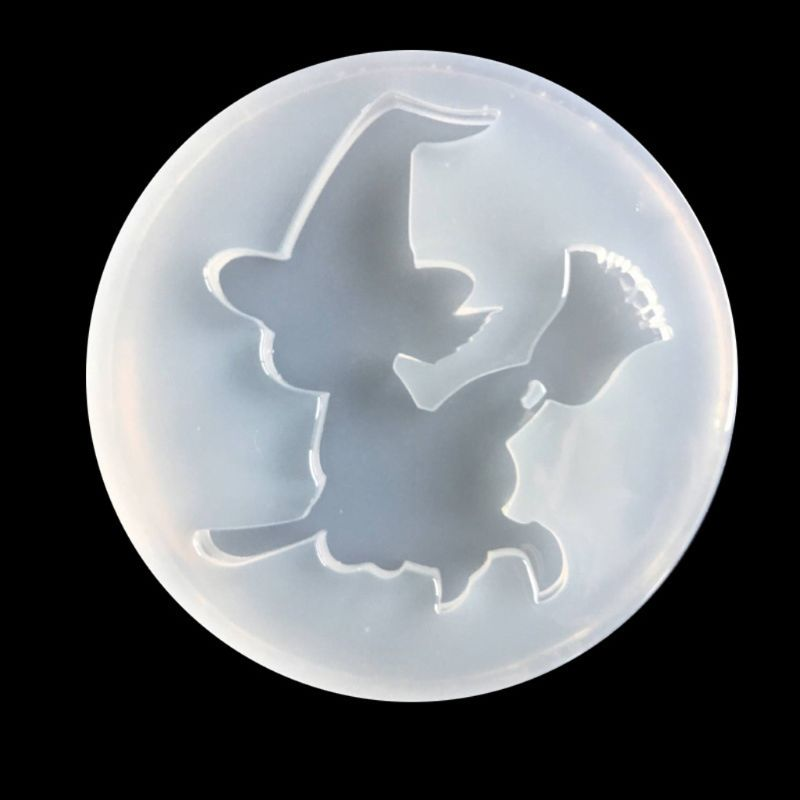 Halloween Witch Pendant Mold Epoxy Resin Silicone Mold Jewelry Making Art Craft