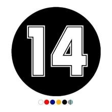 CS 11015# Die Cut Vinyl Decal Racing Number 14 Car Sticker Waterproof Auto Decors on Truck Bumper Rear Window