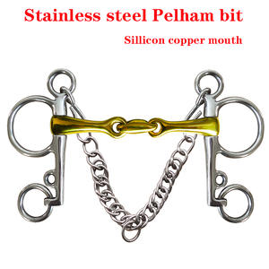 Pelham-Bit with Elliptical Link. SBT0717 Sillicon Stainless-Steel Sillicon