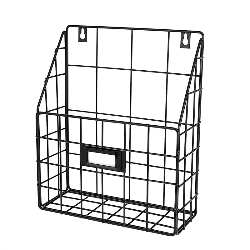 Wire Mail Basket - Wall Mounted Hanging Folder/Document Organizer - Economic & Easy To Install Tray For Home Office & More (1 Sl