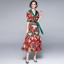 Zuoman mulheres verão elegante vestido verde festa feminino de escritório alta qualidade robe femme designer do vintage entalhado vestidos