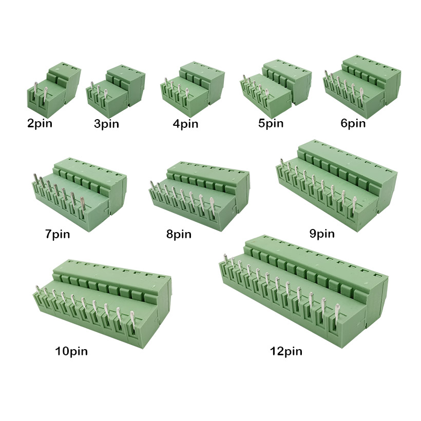 10pcs(5pair) 15EDG 3.81mm KF2EDG PCB Screw Terminal Block Connector Plug-<font><b>Pin</b></font> Right <font><b>Angle</b></font> <font><b>Header</b></font> Socket 2/3/4/5/6/7/8/9/<font><b>10</b></font>/12pin image