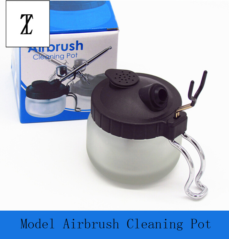 For Model Coloring Tools Airbrush Cleaning Pot Waste Liquid Collector With Metal Pen Holder