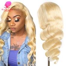 Pelucas de encaje prearrancado para mujeres negras, cabello humano de 4x4 13x4 360, 28 y 30 pulgadas, medio 613 Rubio, ondulado, brasileño