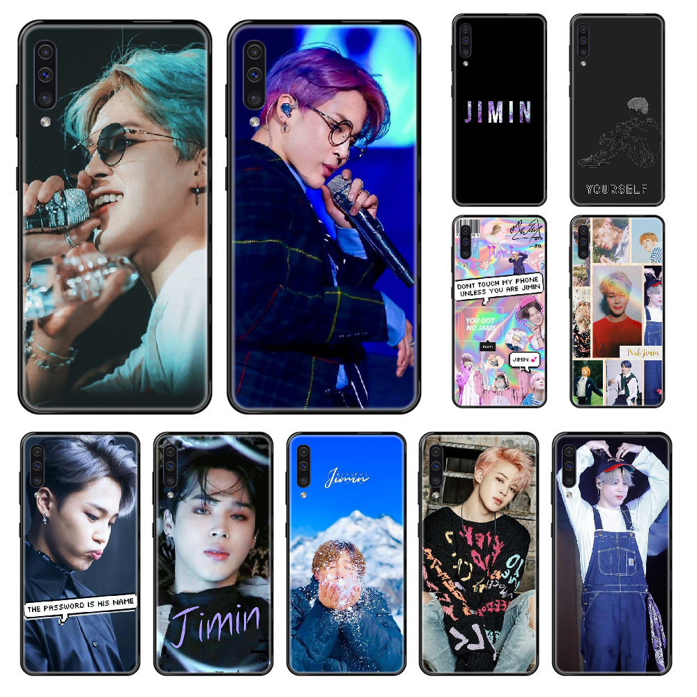 Korea Boys Jimin KPOP Phone case For Samsung Galaxy A 3 5 6 7 8 20 40 50 <font><b>70</b></font> 71 E S Plus 2016 2017 <font><b>2018</b></font> black 3D waterproof tpu image