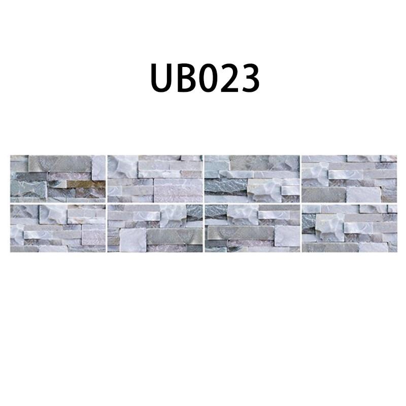 9Pcs Waterproof Long Brick Wall Tile Stickers PVC Kitchen Home Bathroom 20x10cm