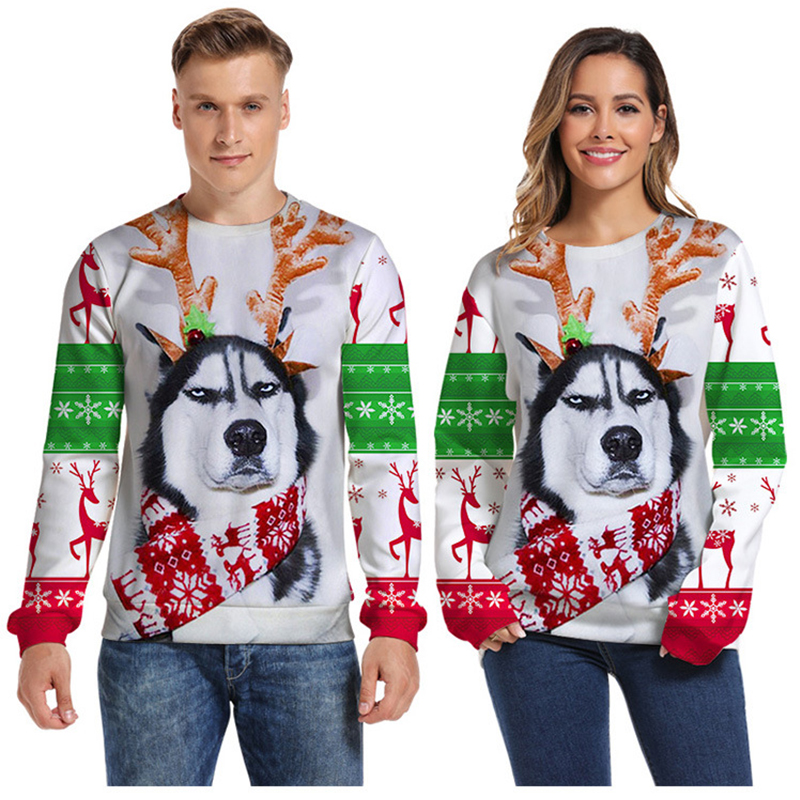 Men's Sweater Pull Homme Ugly Christmas Sweater Santa Claus 3d Loose Hoodie Men Women Pullover Christmas Novelty Male Tops