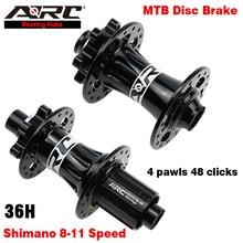ARC 4 Versiegelt Lager Disc Bremse Fahrrad Hub MTB Mountainbike Hub 36 Loch 4 Klinken 48 Ring 8-11 geschwindigkeit Rot Blau Schwarz Laufradsatz Hub