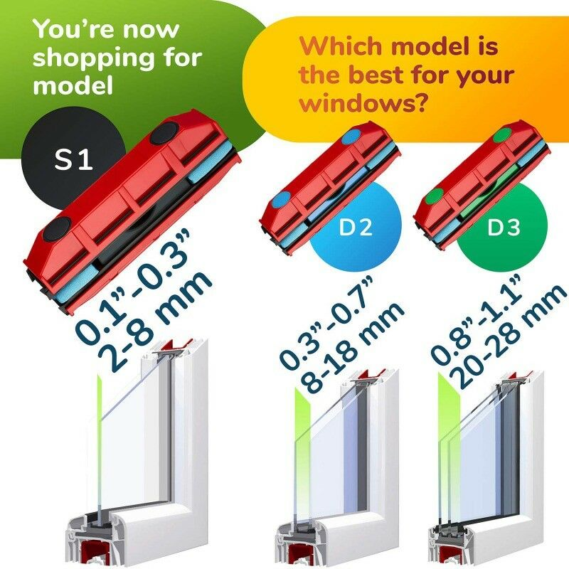 Double-Sided Magnet Window Cleaner Glass Magnet Suitable For 20-28mm Double Thick Glass Magnet Cleaner