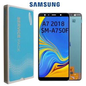"""Image 1 - Display LCD AMOLED Super da 6.0 """"per Samsung Galaxy A7 2018 A750 Display A750F con gruppo Touch Screen parte di ricambio"""