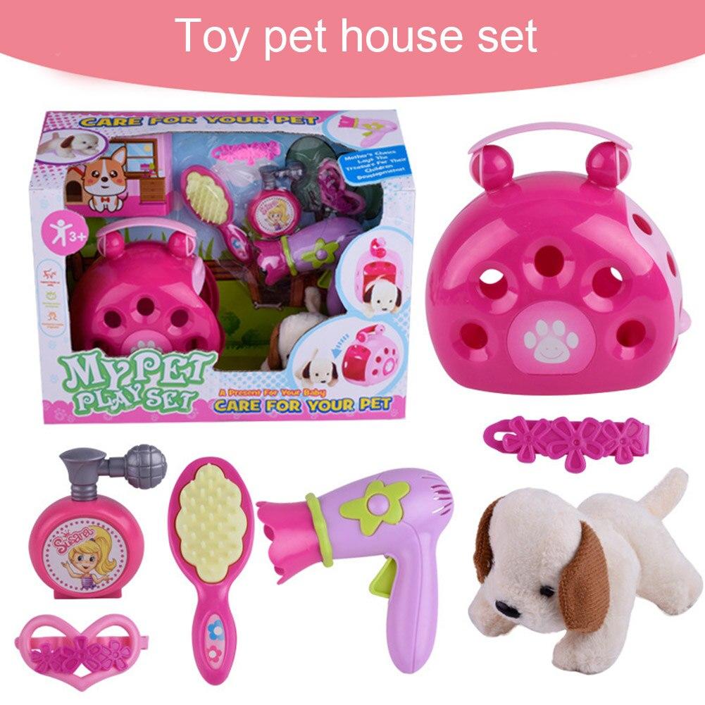 Set Of Dog Stuffed Animals, 2020 New Kids Simulation Plush Dog Toy Set Cute Walking Dog House Care For Pets Toys Gifts Beauty Fashion Toys Aliexpress