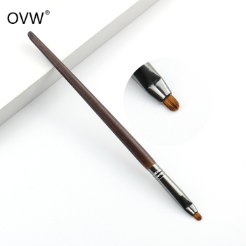 OVW-pincel delineador de ojos de precisión, Mini pincel sintético para maquillaje de belleza, cerdas de fibra, brochas de maquillaje de alta calidad
