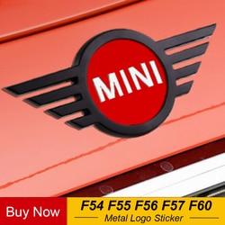 Etiqueta engomada del logotipo de la insignia del coche campana delantera del maletero trasero moldura del emblema de la cola para el nuevo Mini Cooper F54 F55 F56 F60 accesorios del país
