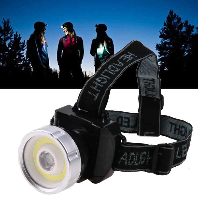 2 X 3W COB HEAD WORK LIGHT LAMP TORCH FLASHLIGHT FISHING ADJUSTABLE STRAP BRIGHT