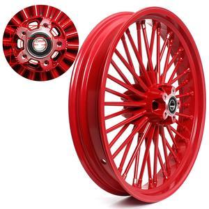 "Image 4 - BIKINGBOY 21"" x 3.5"" Single Disc Front Wheel Rim Hub 36 Fat King Spokes For Harley Dyna / Softail / Touring / Sportster"