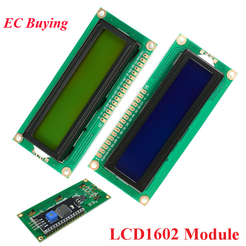 1602 LCD Module Blue Yellow-Green Screen IIC I2C LCD1602 1602A Display Module 16*2 16x2 5V Adapter Plate For Arduino