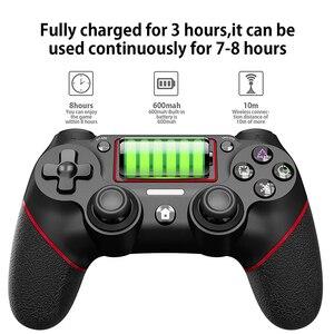 Image 3 - لوحة ألعاب لاسلكية ل PS4 صدمة مزدوجة أذرع التحكم في ألعاب الفيديو بلوتوث قابلة للشحن غمبد استبدال لمحطة اللعب 4