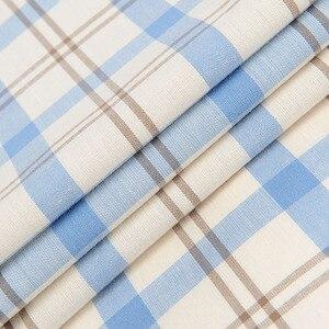 Image 5 - גברים של 100% כותנה ארוך שרוול ניגודיות משובצת משובצות חולצה כיס פחות עיצוב מזדמן סטנדרטי fit כפתור למטה חולצות משבצות