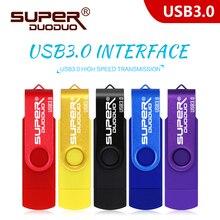 ความเร็วสูง Pendrive CLE USB 3.0 OTG USB Flash Drive 64GB 128GB 256GB ภายนอก Memory Stick 32GB 16GB USB Stick ไดรฟ์ปากกา