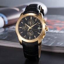 2021 relógios de quartzo dos homens da marca de luxo moda leatehr relógio casual aço inoxidável relogio quartzo
