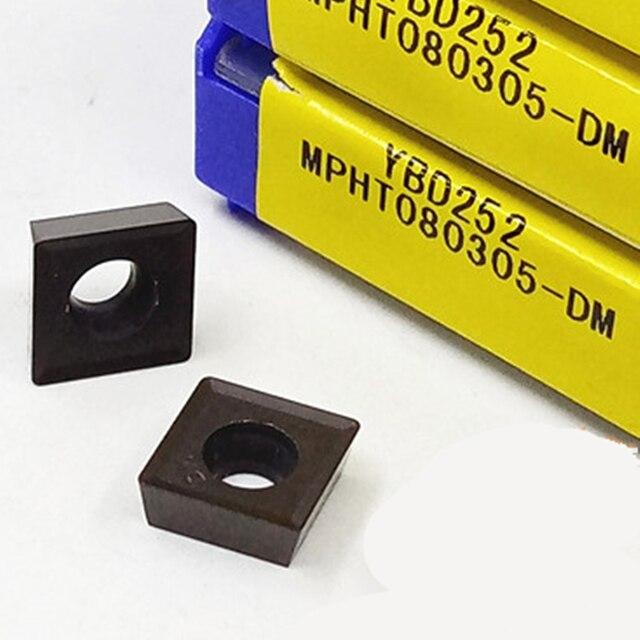 ZCC.CT MPHT060304-DM YBD252/MPHT080305-DM YBD252/MPHT120408-DM YBD252 pour inserts en carbure de CNC en fonte 10 pièces/boîte