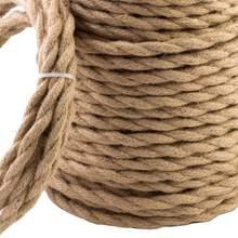 Fil électrique Beige Vintage 5/10/20 mètres, corde en chanvre, fil Textile torsadé, fil tressé rétro, ligne de lumière suspendue