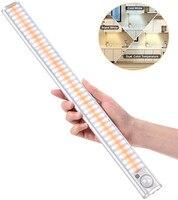 Sensor de movimiento PIR regulable, luz LED para armario, ahorro de energía, iluminación de armario, inalámbrico, recargable por USB, cocina