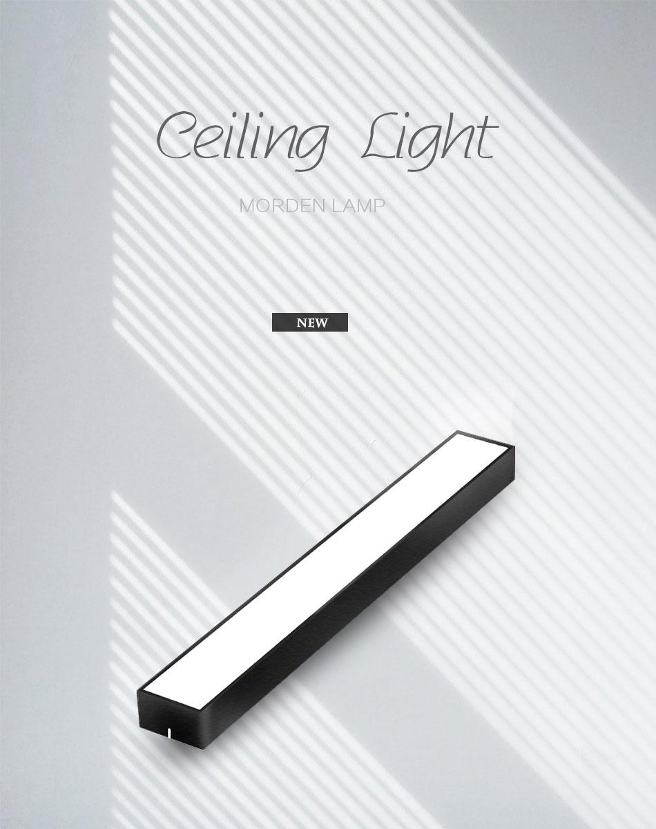 H628d2442c04f43709a634bbc905435b8U Modern LED Ceiling Light Lamp Lighting Fixture Rectangle Office Remote Bedroom Surface Mount Living Room Panel Control 110V 220V