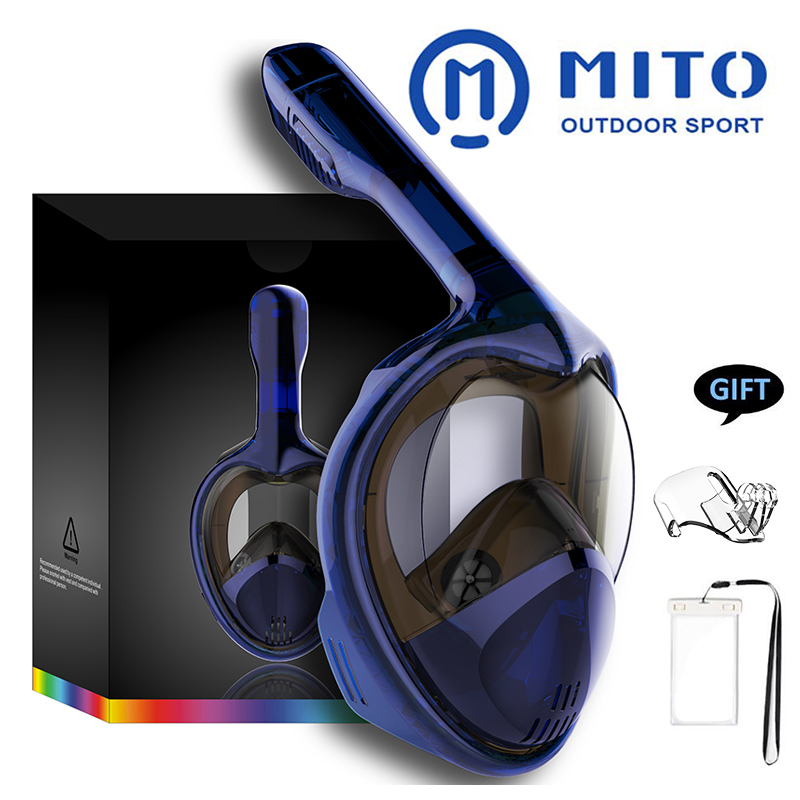 2020 Hot Diving Mask Scuba Mask Underwater Anti Fog Full Face Snorkeling Mask Women Men Kids Swimming Snorkel Diving Equipment
