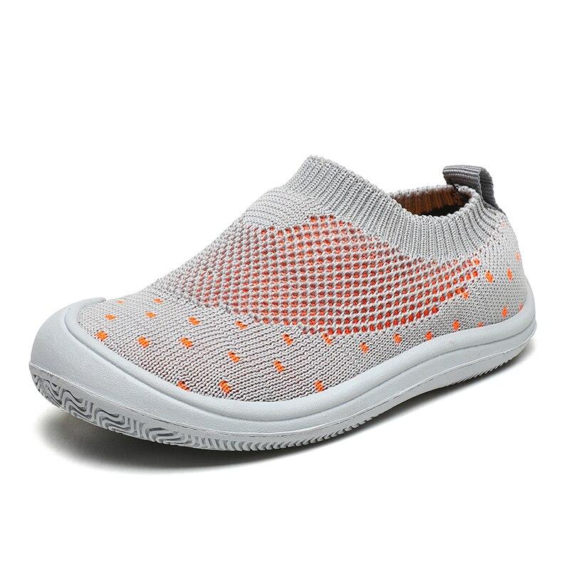 Children Sport Shoes Slip on Kid Baby First Walkers Walking Shoes Blue Gray Indoor Boys Grils Infant Toddler Mesh Trainer