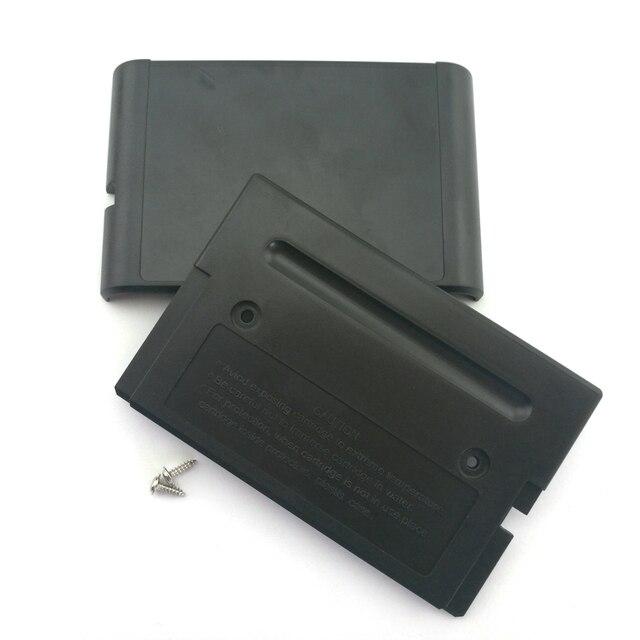 Reemplazo de carcasa de cartucho de juego, carcasa de plástico para SEGA MEGADRIVE MD para GENESIS 2, 10 Uds.