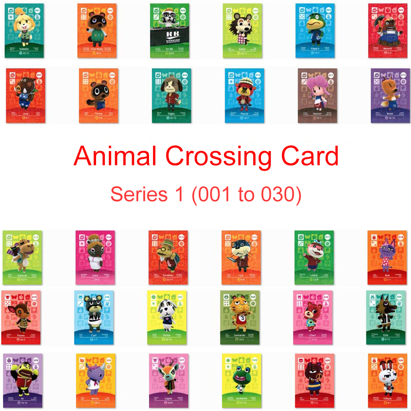 Series 1 (001 To 030) Animal Crossing Card Amiibo Card Work For NS 3DS Games Switch New Horizons Bob Fauna Villager Card Amibo
