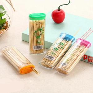 100Pcs/Box Disposable Wood Toothpick Disposable Double Sharp Natural Bamboo Toothpick Home Restaurant Hotel Product Random Color