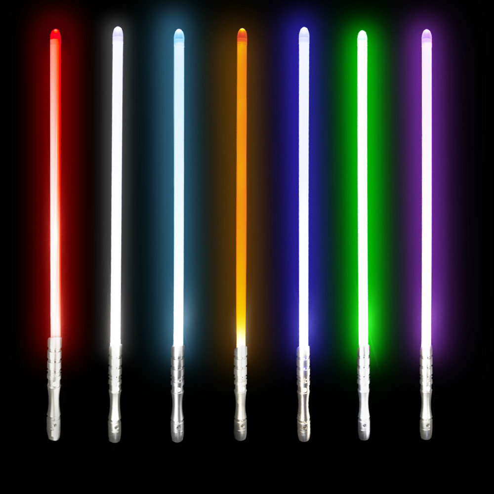 RGB Luminous Toys Lightsaber Jedi Sith Luke Light Saber Force Heavy Dueling Color Changing FOC With Light Sound Led Toys