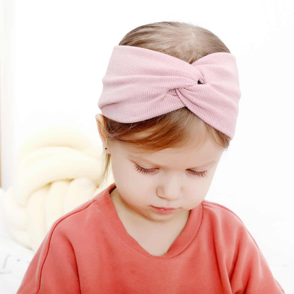 Diademas untuk Bebe Baby Headband Bayi Aksesori Rambut Pita Pengikat Rambut BEBE FILLE Sorban Twist Bayi Perempuan Bando Opaska DLA Dziewczynki