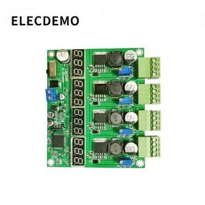 Image 1 - وحدة امدادات الطاقة متعددة القنوات التبديل أربعة شاشة ديجيتال LM2596 وحدة DC DC قابل للتعديل باك الناتج وحدة الطاقة