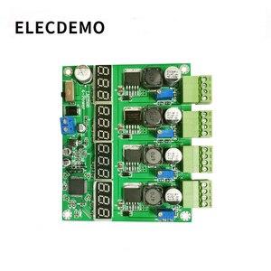 Image 1 - 電源モジュールの多チャンネルスイッチング 4 デジタルディスプレイ LM2596 モジュール DC DC 調節可能な降圧出力電源モジュール