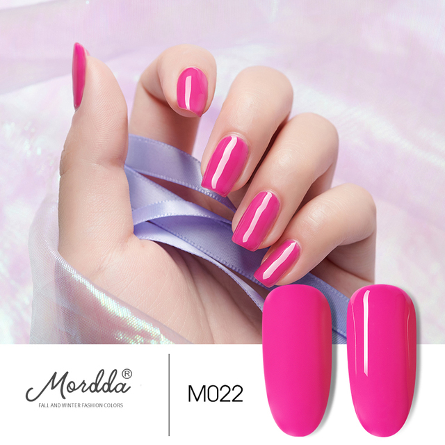 MORDDA 8 ML Gel Nail Polish Gel Varnish Semi Permanent UV LED Gel Nail Lacquer Soak Off Hybrid Gel Painting Need Matte Top Coat 5