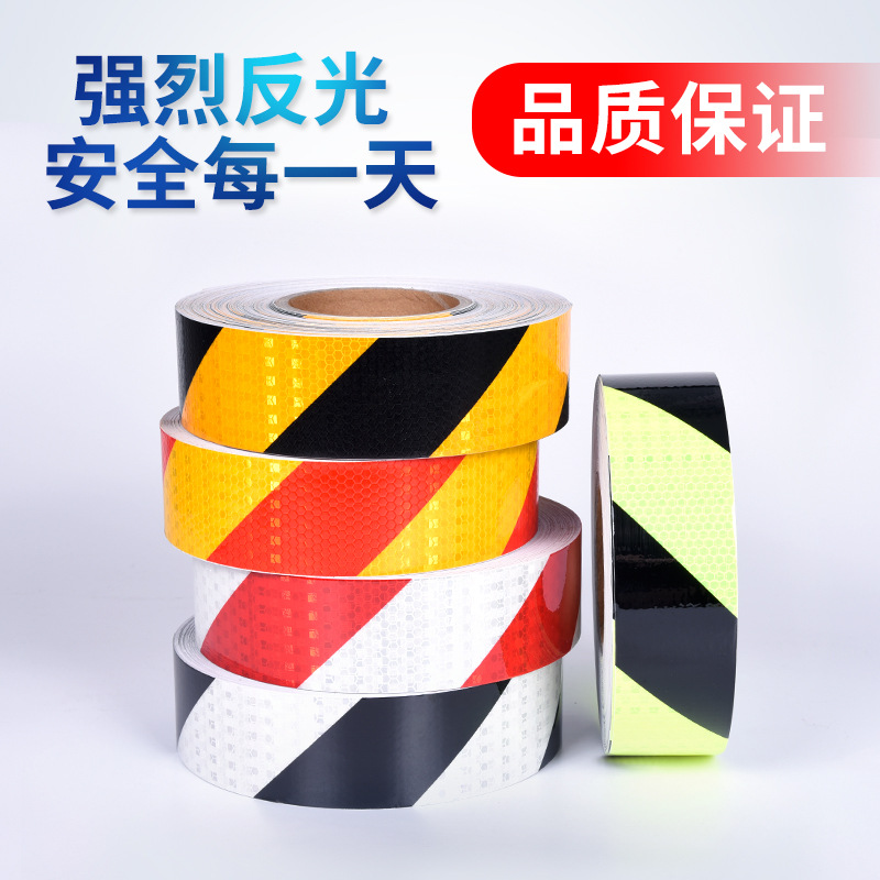 Reflective Lattice Reflective Sticker Twill Reflective Warning Adhesive Tape Car Stickers Safe Reflective Film|Styling Mouldings| |  - title=