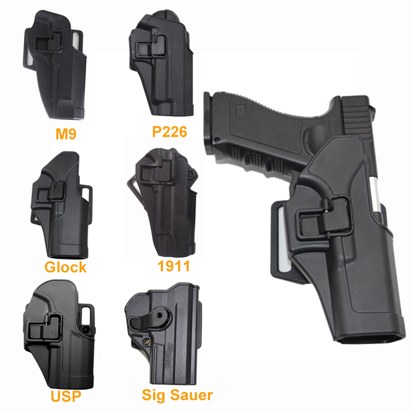 Ipsc Hunting Pistol Holster Case For Glock 17 19 M9 Colt 1911 Sig P226 HK USP Paintball Airsoft Holster Tactical Gun Accessories