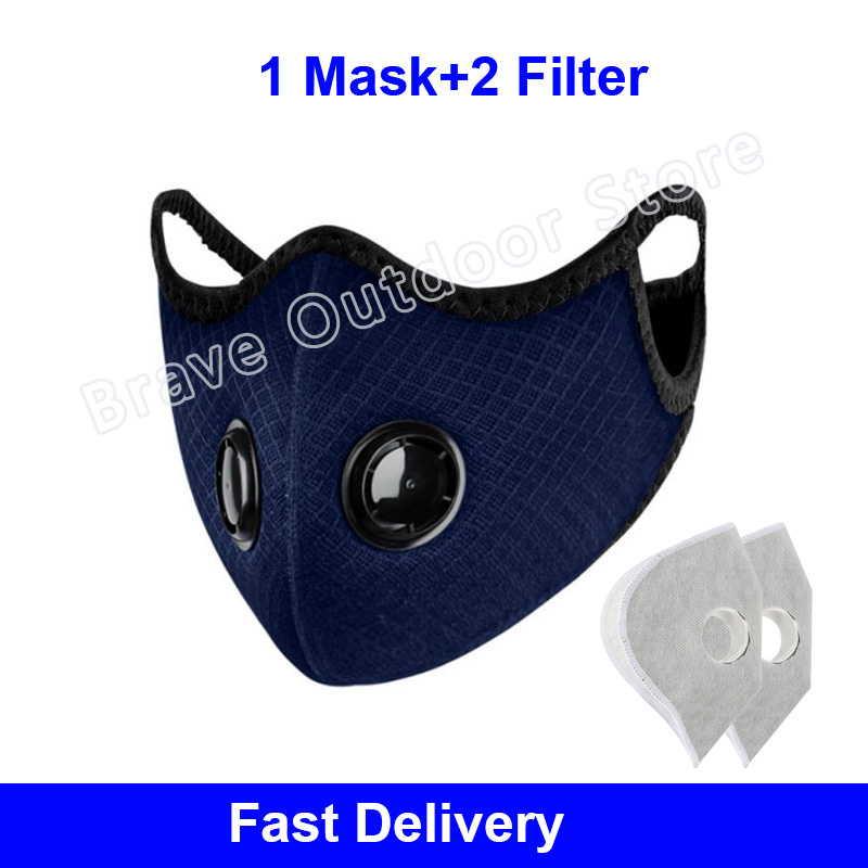 New Activated Carbon Breathable Bicycle Mask Dust Windproof Bike MTB Cycling Face Mask Riding Masks Respirator