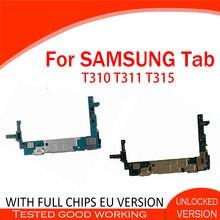 Mainboard original para samsung galaxy tab 3 8.0 t310 t311 placa de lógica do sistema operacional android com chips 16gb rom 1.5gb ram