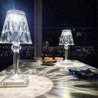 Lámpara LED de noche de diamante con Sensor táctil, lámpara de escritorio para dormitorio, Bar, restaurante, decoración, cristal